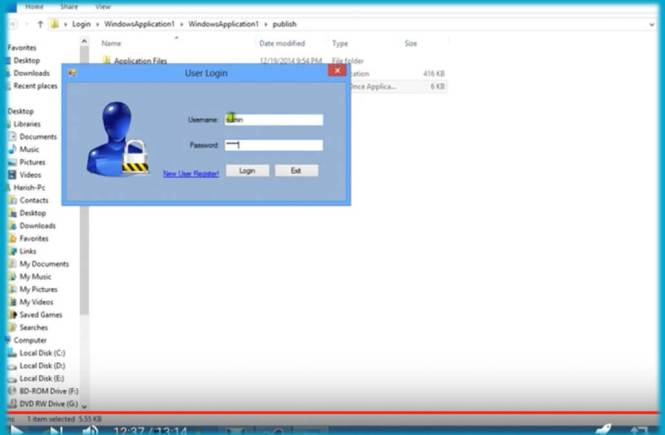How to Make a User Login form on Visual Basic/Studio 2013
