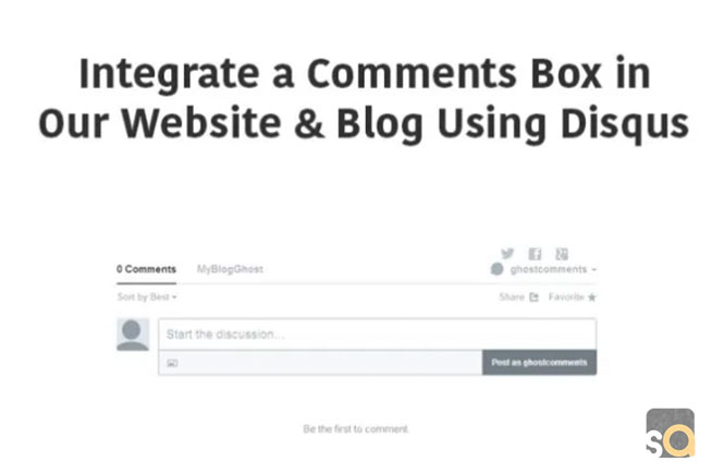 How to integrate a comments box in our website & blog using Disqus