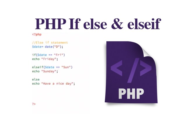 PHP If else & elseif