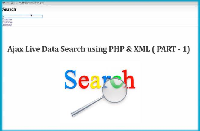 Ajax Live Data Search using PHP & XML