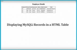 Displaying MySQLi Records in a HTML Table