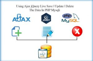 Using Ajax, jQuery Live Add | Edit | Delete MySQL records using PHP