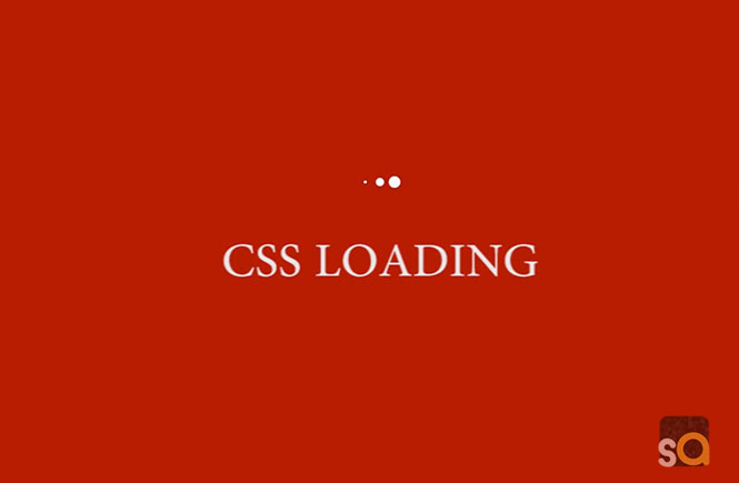 CSS Three Bounce Loading Animation