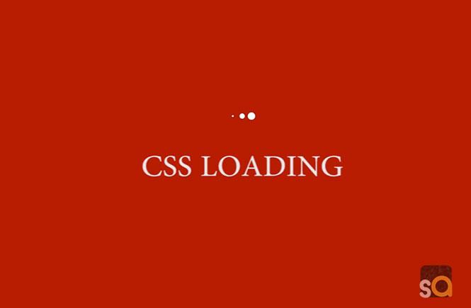 CSS Three Bounce Loading Animation