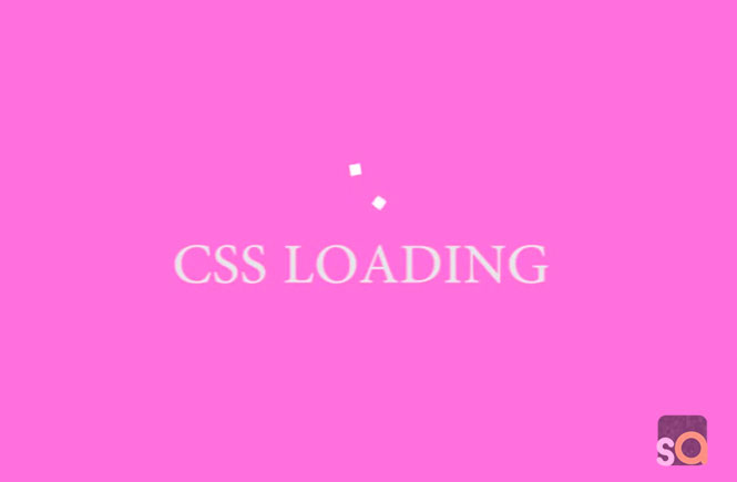 CSS Wandering Cubes Loading Animation