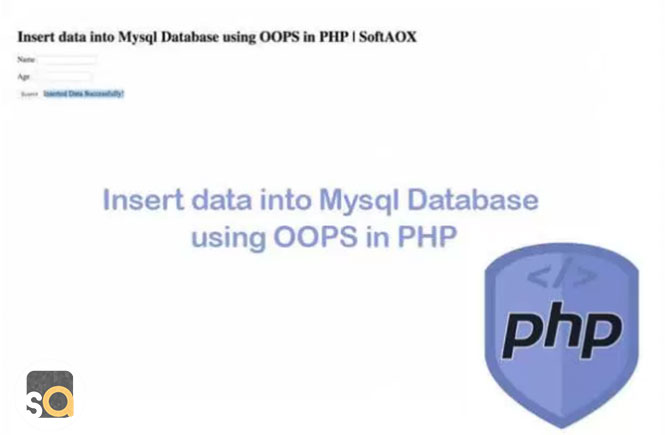 Insert data into Mysql Database using OOPS in PHP