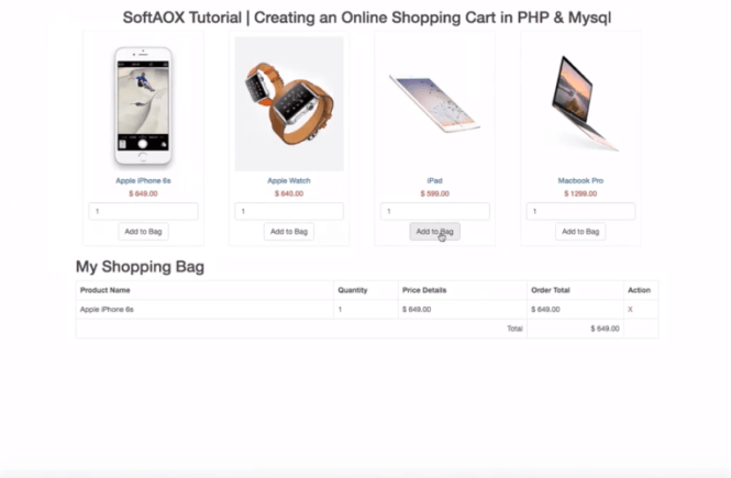 Creating an Online Shopping Cart in PHP & MySQL