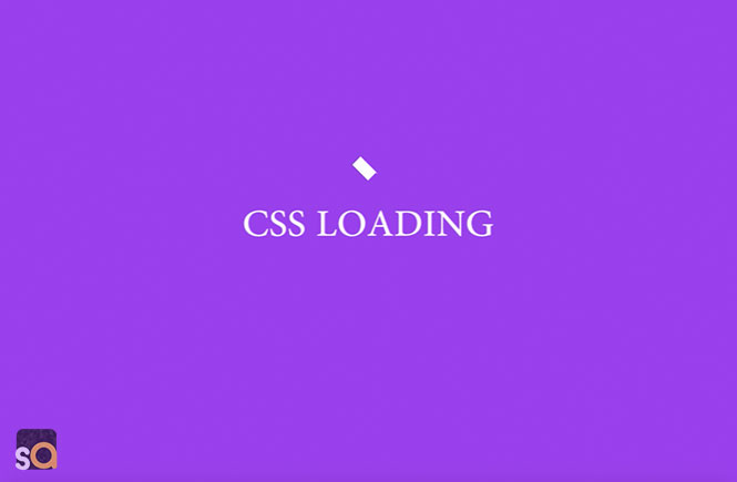 CSS Flip Box Loading Animation