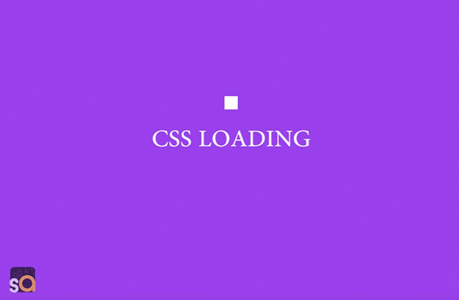 CSS Loading Boxes Animation