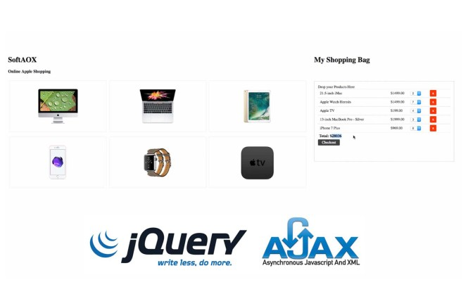 Ajax Drag And Drop Online Shopping Cart Using jQuery & PHP