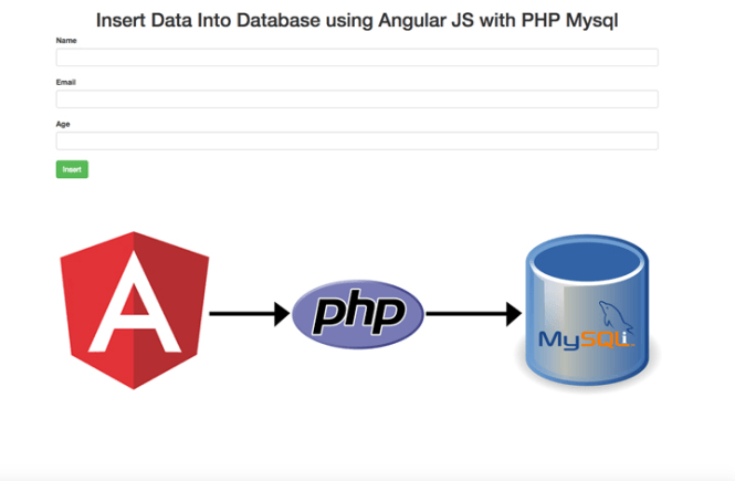 Insert Data Into Database using AngularJS with PHP MySQL
