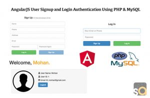 AngularJS User Signup and Login Authentication Using PHP & MySQL
