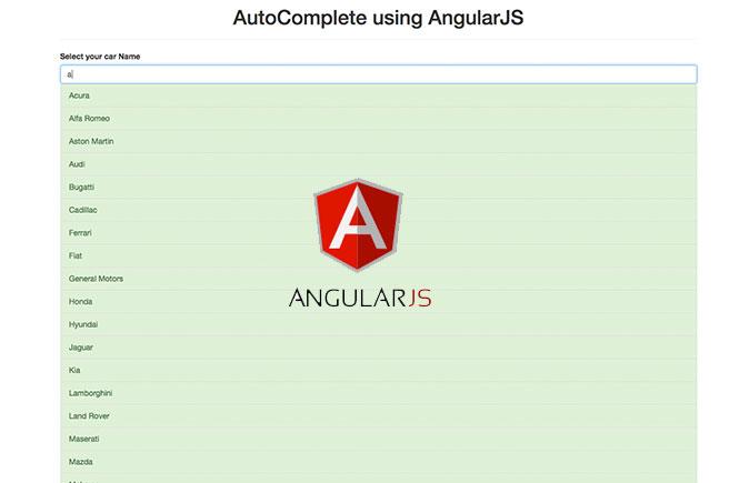 AutoComplete using AngularJS