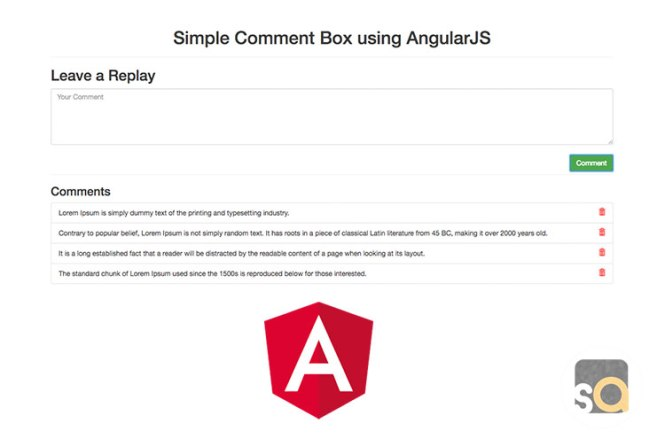 Simple Comment Box using AngularJS
