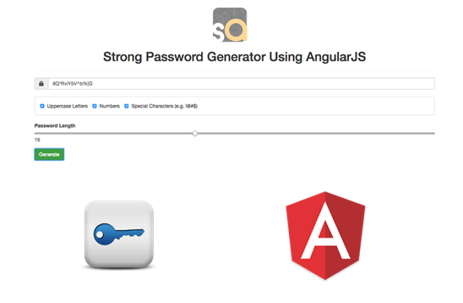 Strong Password Generator Using AngularJS