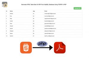 Generate HTML Table Data To PDF From MySQL Database Using TCPDF In PHP