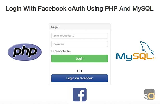 Login With Facebook oAuth Using PHP And MySQL