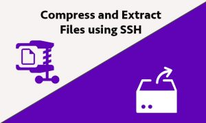 How to Compress and Extract Files using SSH