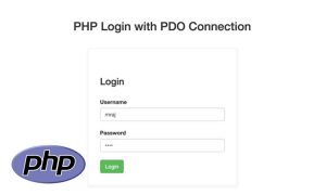 Create a PHP Login with PDO Connection