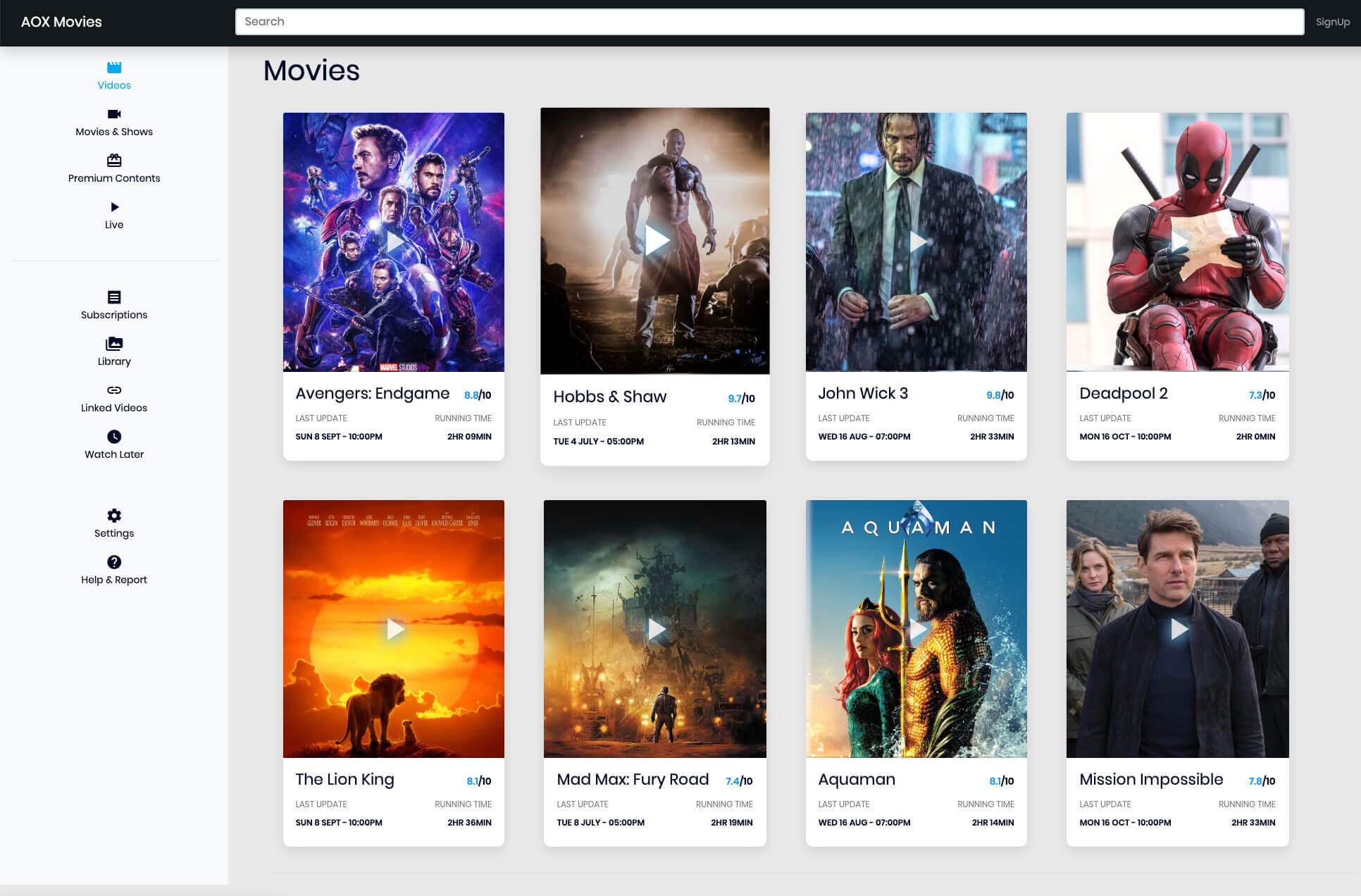 Movie Card UI Design Inspiration – HTML & CSS