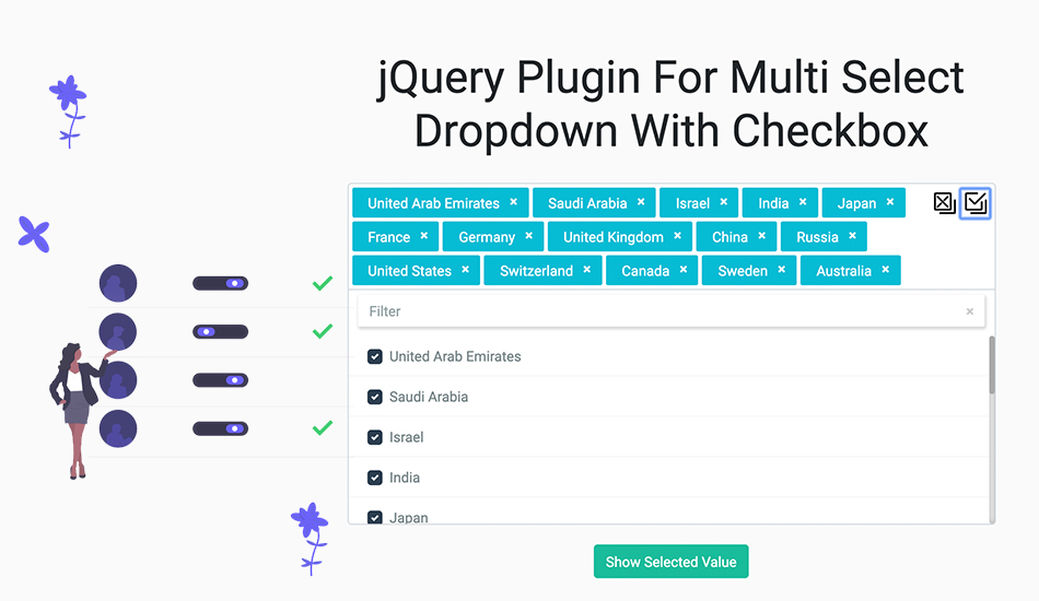 jQuery Plugin For Multi Select Dropdown With Checkbox