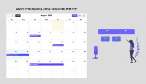 jQuery Event Booking Using FullCalendar With PHP