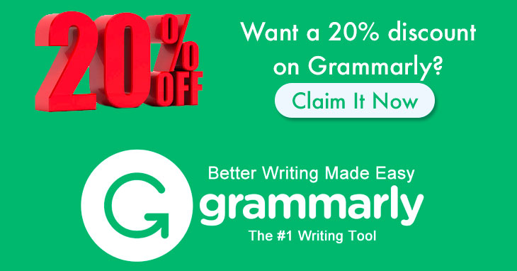 Want a 20% discount on Grammarly?
