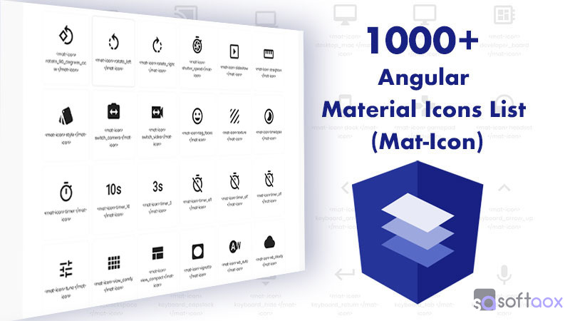 1000+ Angular Material Icons List (Mat-Icon)