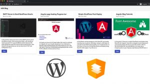 Angular Material and WordPress Rest API