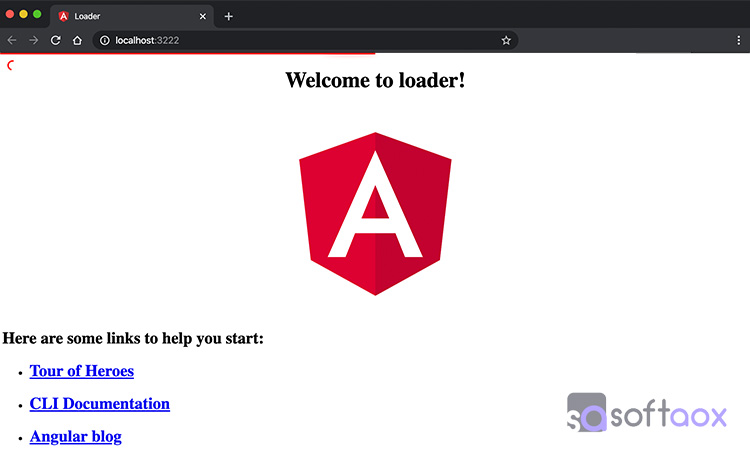 Angular page loading Progress bar