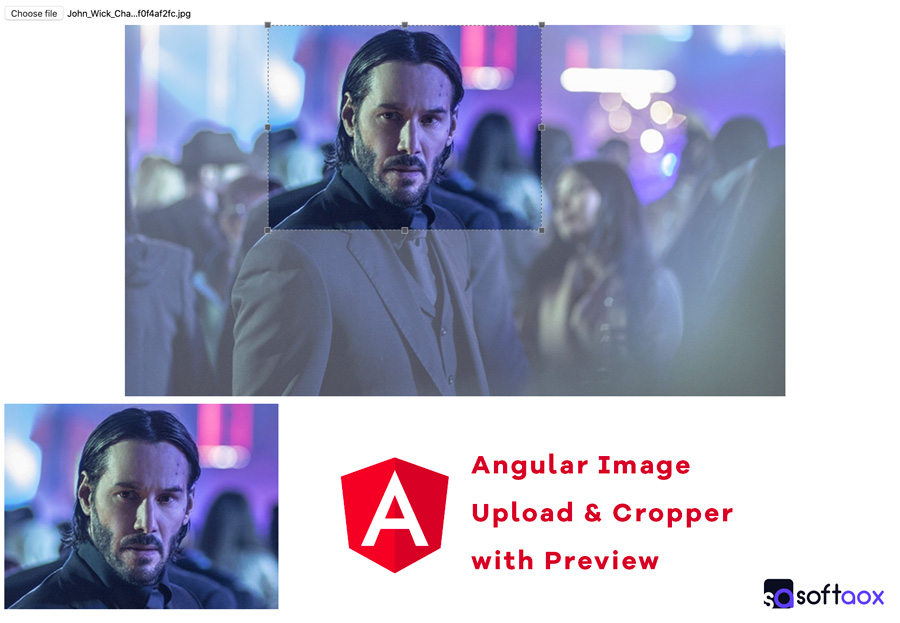 Angular Image Upload & Cropper with Preview softaox