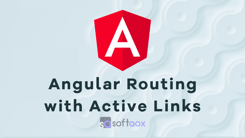 Angular Routing with Active Links