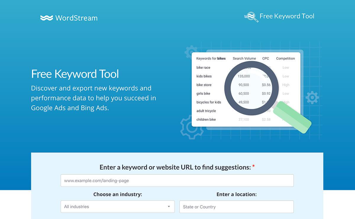 Free Keyword Tool WordStream Tools for SEO