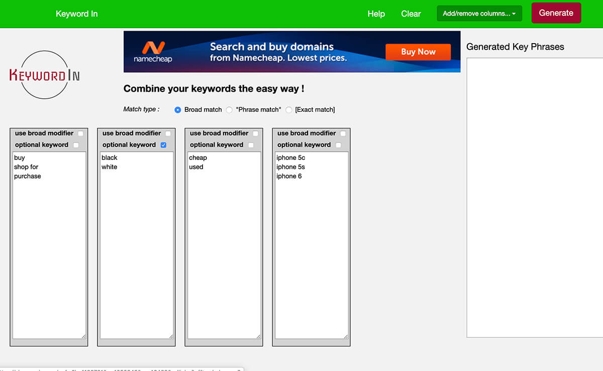 KeyWord In Research Tools for SEO