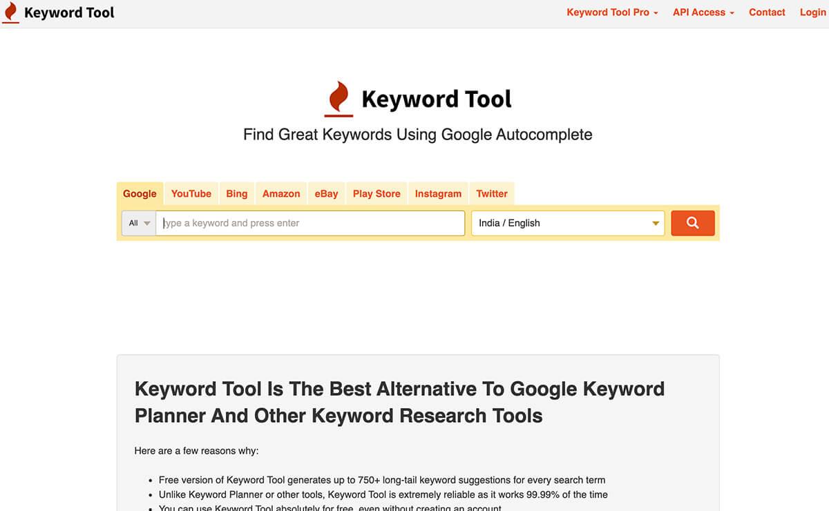 Keyword Tool Keyword Research Tools for SEO