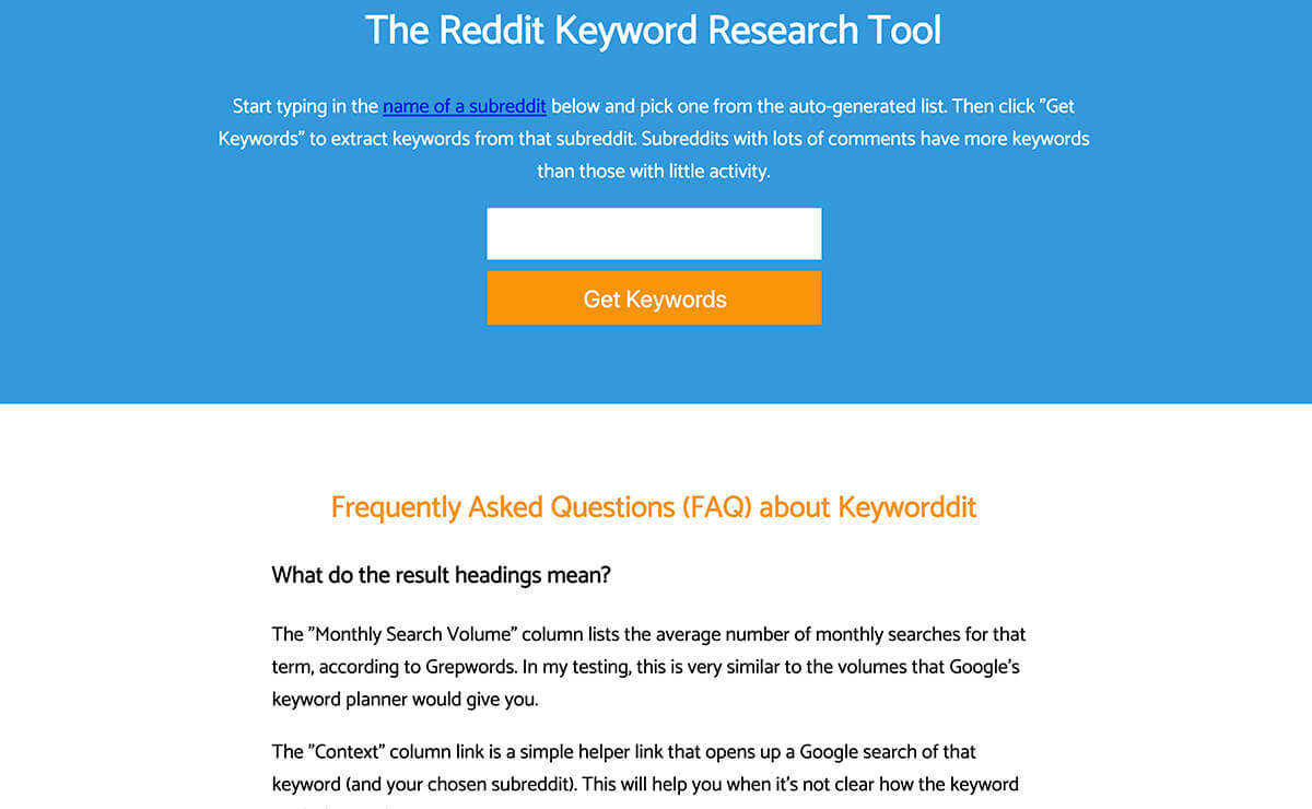 Reddit Keyword Research Tool Keyword Research Tools for SEO