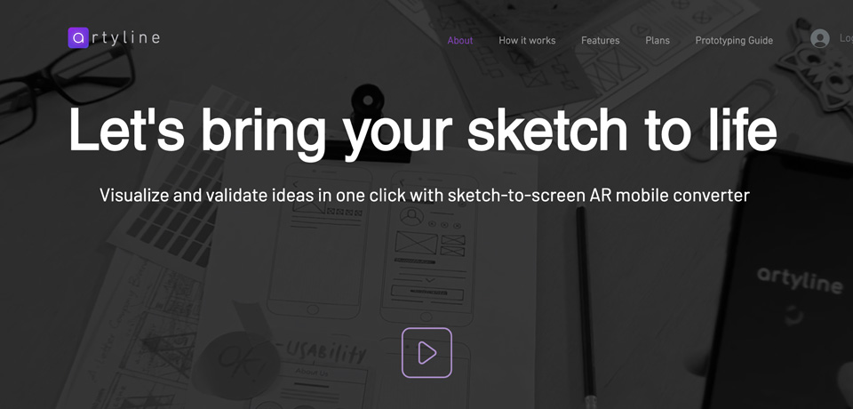 Artyline: Create Interactive Prototypes from Sketch