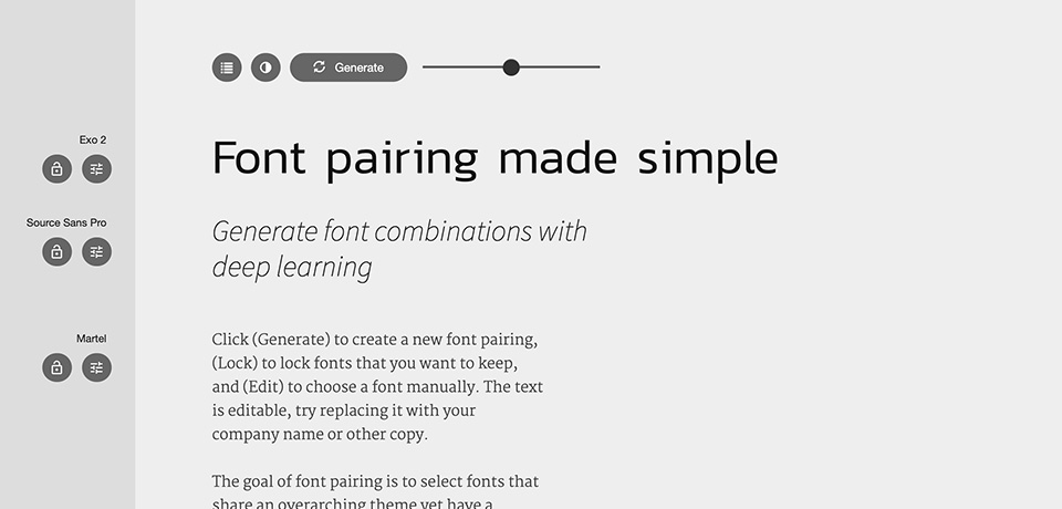 Fontjoy - Generate font pairings in one click