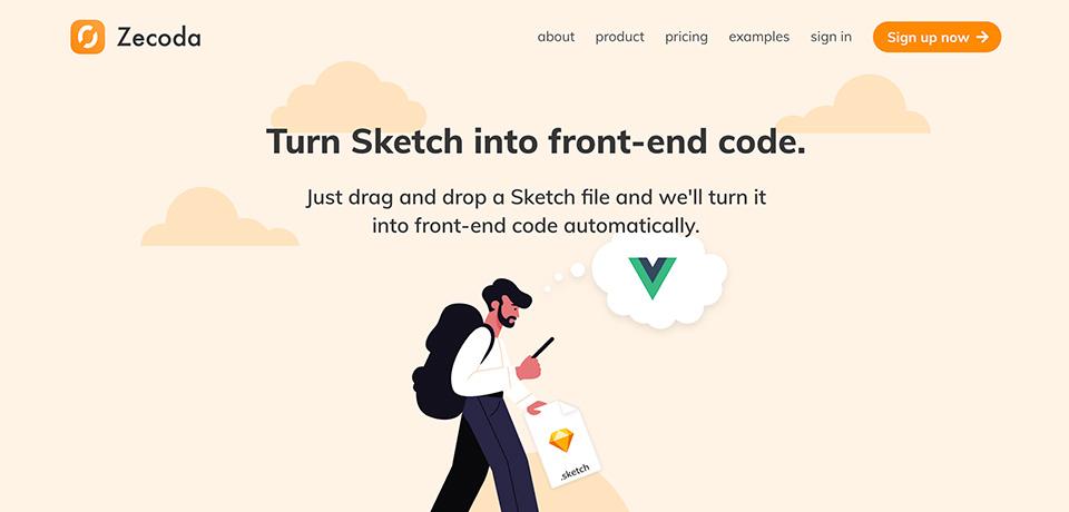 Zecoda: Turn Designs Into Code Automatically