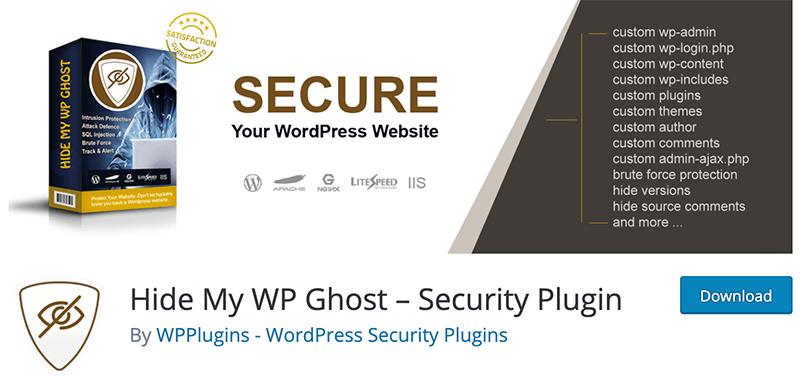 Change the WP URL using Hide My WP Ghost