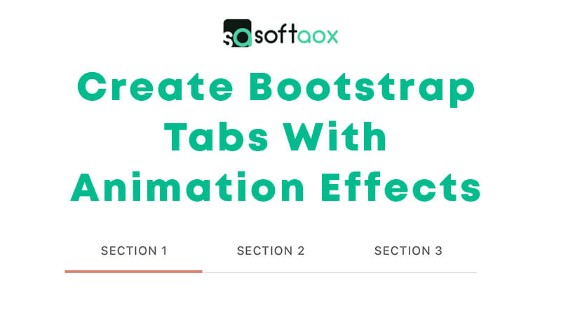 Create Bootstrap Tabs With Animation Effects