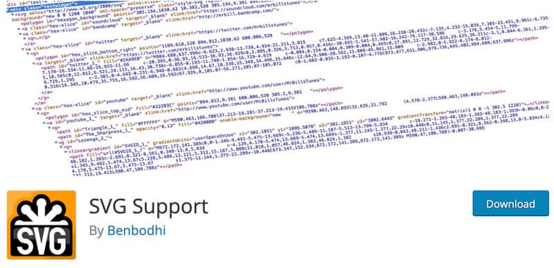 Enable SVG File option using the WordPress plugin