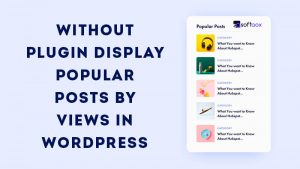 Without Plugin Display Popular Posts By Views In WordPress