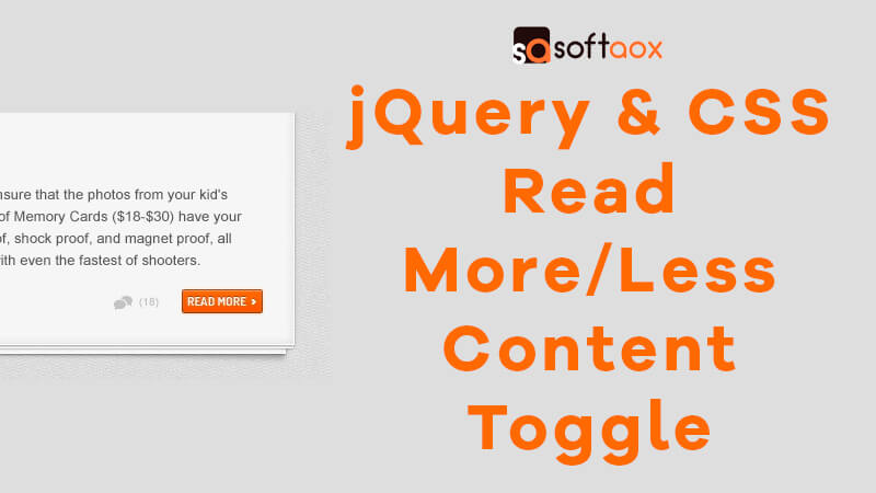 jQuery & CSS Read More/Less Content Toggle