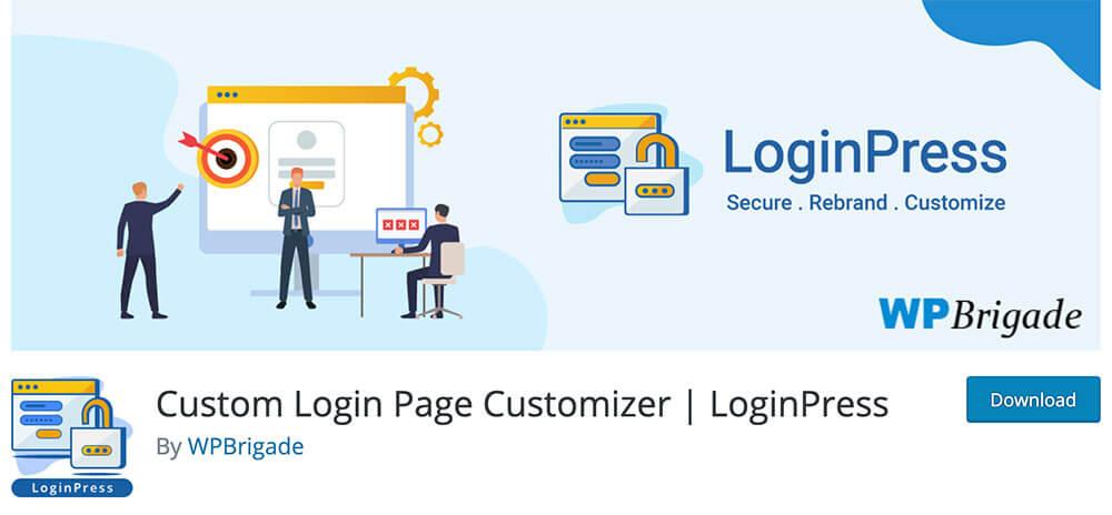 using plugin change login page wordpress
