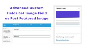 Advanced Custom Fields Set Image Field as Post Featured Image