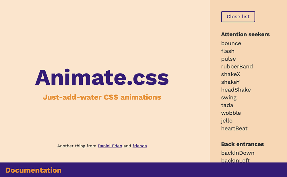 Animate.css CSS Animation Library