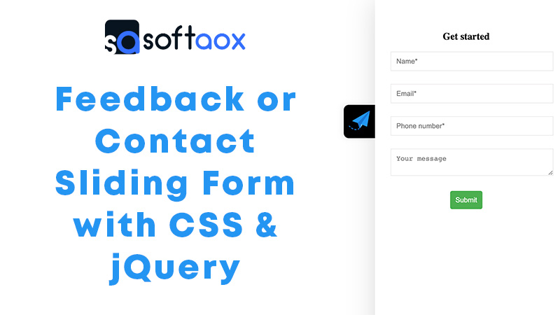 Feedback/Contact Sliding Form with CSS & jQuery