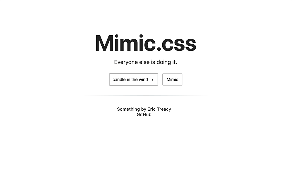 Mimic animation css library