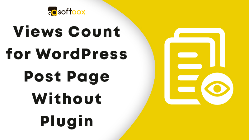 Views Count for WordPress Post Page Without Plugin